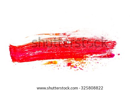 Painting brush stroke  on a white backgrounds  - stock photo