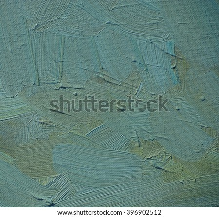 painting by oil on canvas for interior, illustration, background - stock photo