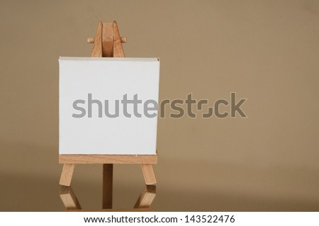 Painting canvas - stock photo