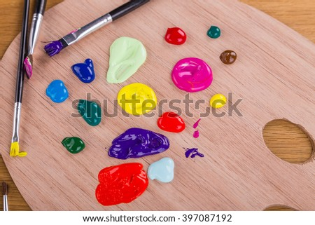 Painting, drawing tools - stock photo