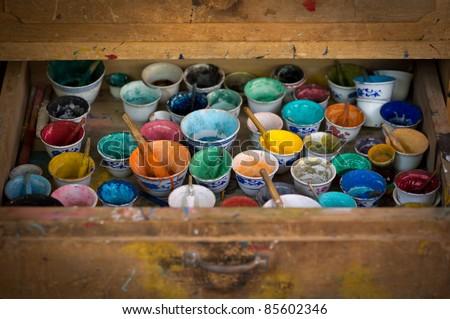 painting equipment - stock photo