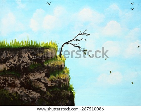 Painting of a scenery for any conceptual theme