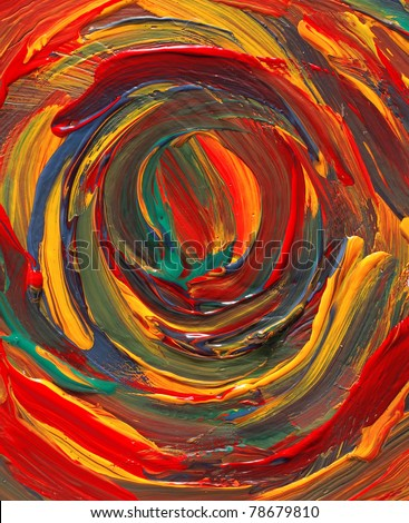 painting of abstract colorful background - stock photo