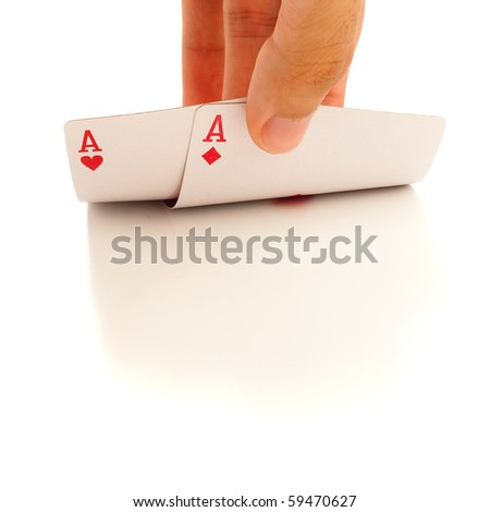 pair of aces. - stock photo