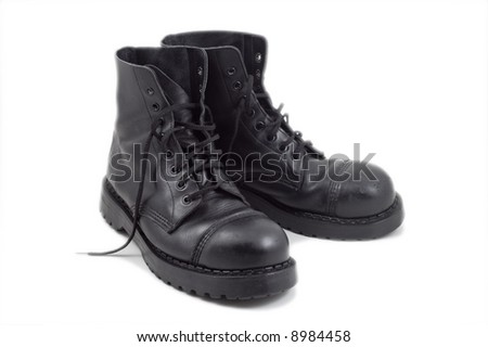 pair of black boots