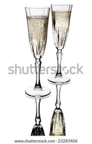 Pair of champagne wine glass