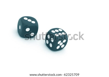 Pair of dice on white background