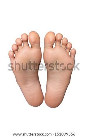 pair of feet - stock photo