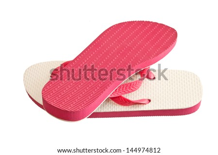 Pair of flip-flops isolated on a white background