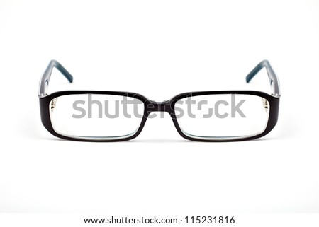 Pair of Glasses on a white background.