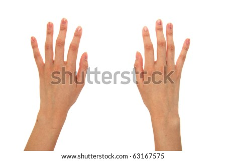 Pair of hands isolated on a white background