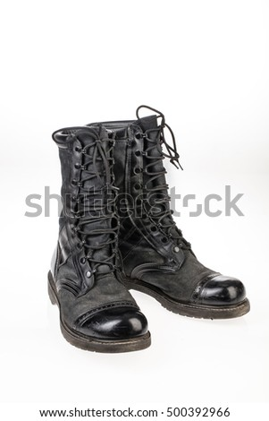 Pair Of High Army Boots