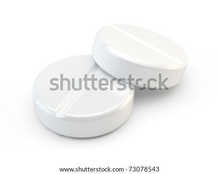 Pair of medical pills - stock photo
