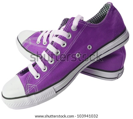 Pair of new sneakers - stock photo