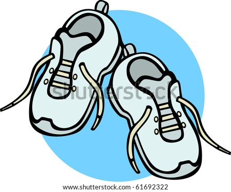 pair of shoes - stock photo