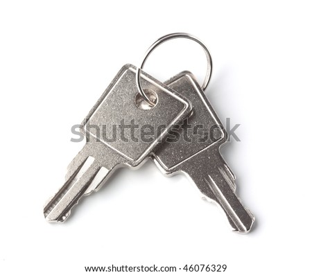 pair of the keys on a white background