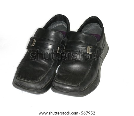 Pair school uniform shoes