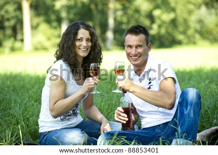 Pair with a glass of wine - stock photo