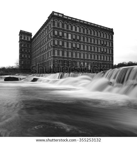PAISLEY, RENFREWSHIRE, SCOTLAND â?? DECEMBER 2015: Anchors Mills, a remainder of the Victorian Industrial Heritage. It is also known as Paisley Watermill or Paisley Cotton mill on December 25, 2015. - stock photo
