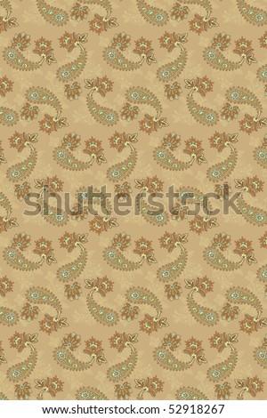 paisley seamless background - stock photo