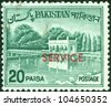 PAKISTAN-CIRCA 1970:A stamp printed in Pakistan shows image of the Architecture Pakistan, circa 1970. - stock photo