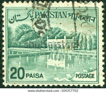 PAKISTAN-CIRCA 1970:A stamp printed in Pakistan shows image of the Architecture Pakistan, circa 1970.