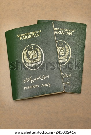 Pakistan Passport - stock photo