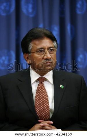 Pakistan's President Pervez Musharraf a - stock photo