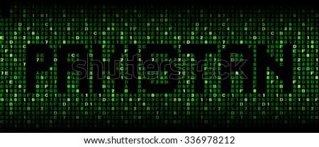 Pakistan text on hex code illustration - stock photo