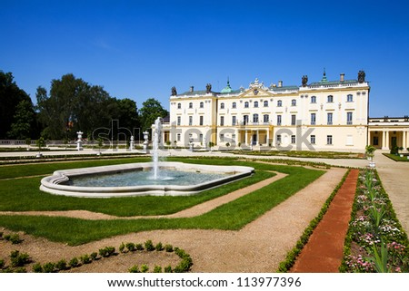 Palace Branicki (1689 - 1771), located in the city of Bialystok, Poland