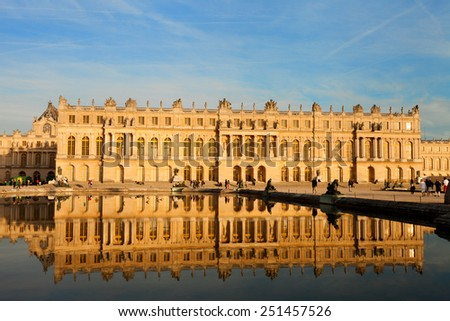 Palace de Versailles, France, UNESCO World Heritage Site. - stock photo