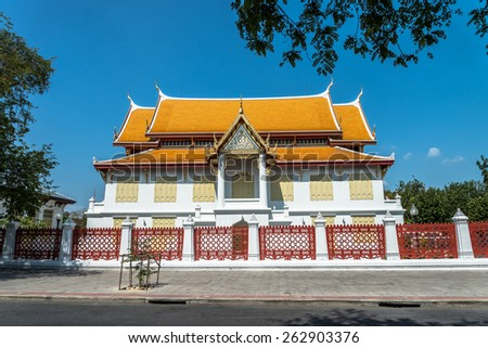 Palace in Wat Benchamabophit Bangkok, Thailand - stock photo