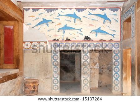palace Knossos,Iraklion,Crete - stock photo