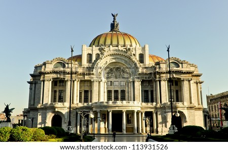 Palace of Fine Arts - Mexico City, Mexico - stock photo