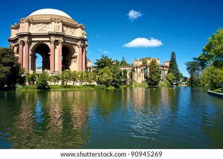 Palace of Fine Arts San Francisco - stock photo