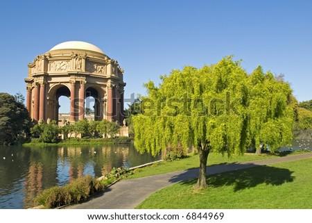 Palace of fine arts, San Francisco, California, USA - stock photo