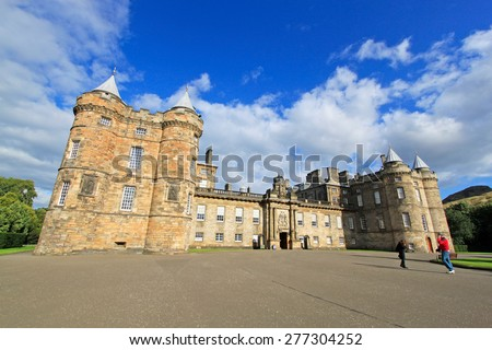 Palace of Holyroodhouse, official residence of the Queen in Scotland, UK - stock photo