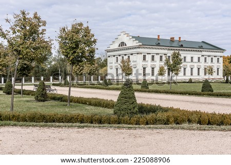 Palace of Kirill Razumovsky (1803, architect Charles Cameron) located in historic Baturyn town - is a part of monumental complex Hetmans' Capital. Chernihiv province, Baturyn, Ukraine.