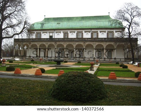 Palace of Queen Anna in Prague - stock photo