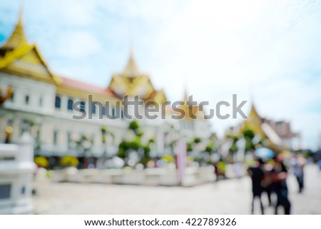 Palace of Thailand background of blurred post production for bokeh effect. - stock photo