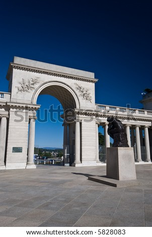 Palace of the legion of Honor Museum in San Francisco. - stock photo