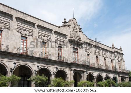 Palace of the Municipal Government of Guadalajara (Mexico) - stock photo