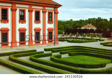 Palace Park In The Prague, Czech Republic - stock photo