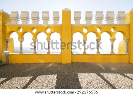 Palacio da Pena - Sintra, Lisboa, Portugal, Europe - stock photo