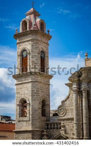 Palacio del Segundo Cabo (Instituto Cubano del Libro), Plaza de Armas, Old Havana, Cuba - stock photo