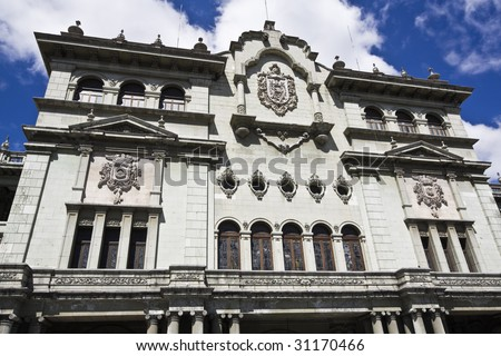 Palacio Nacional in Guatemala City - stock photo