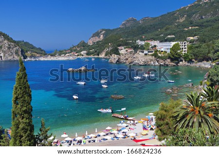 Palaiokastritsa bay at Corfu island in Greece