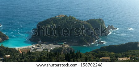 palaiokastritsa on corfu island, greece - stock photo