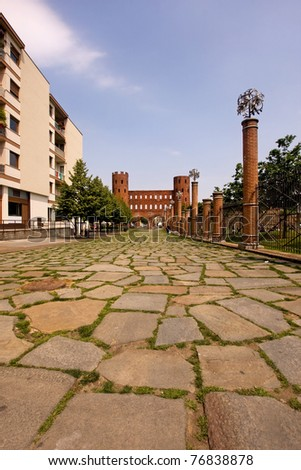 Palatine court, Turin, Italy - stock photo