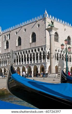 Palazzo Ducale and gondola pier at Venice, Italy - stock photo
